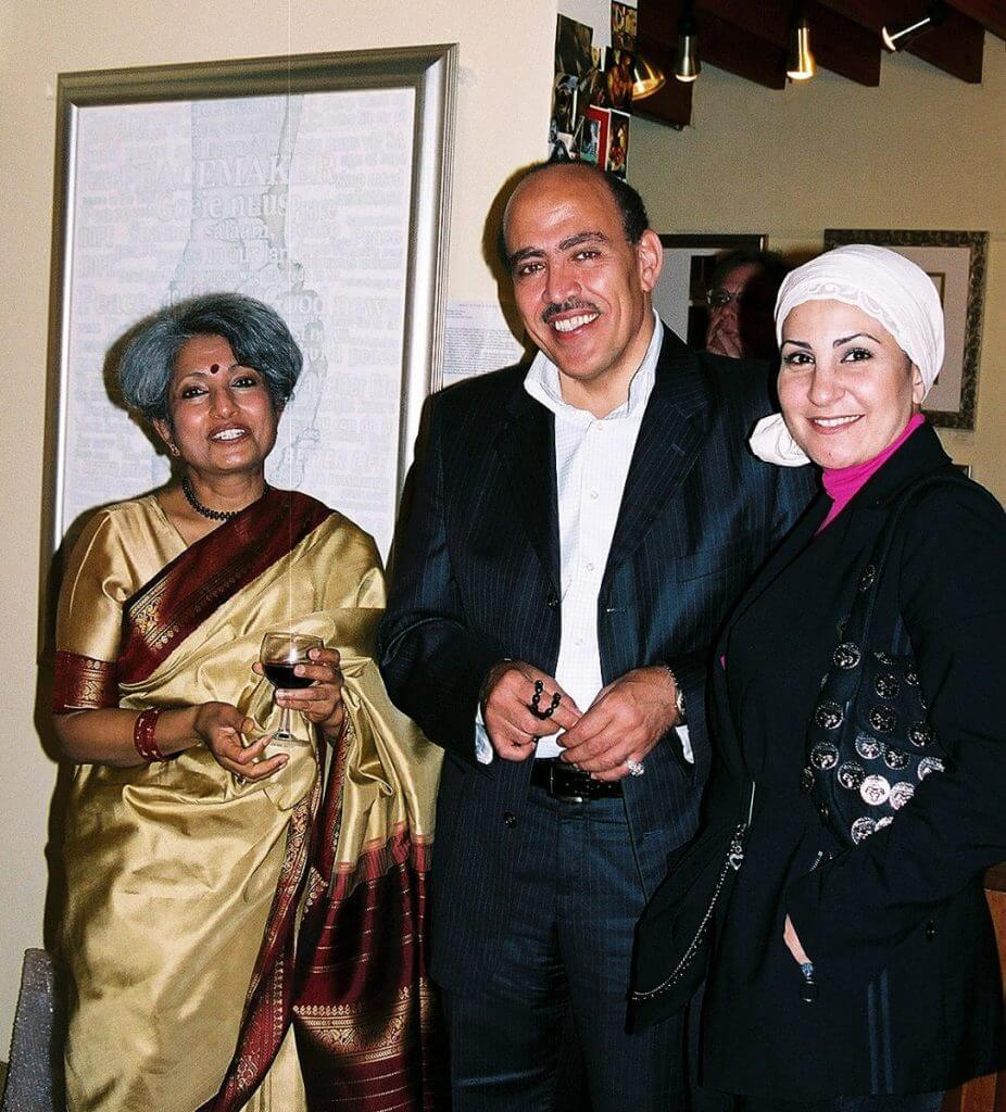 09) Shree-Devi Nair Pal (wife of the High Commissioner of India) with Faissal & Aysha Moalla, Charge d'affaires Saudi Arabia